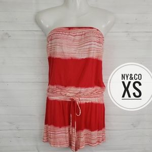 XS New York & Company Red Stripe Romper